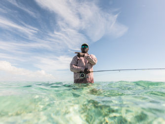 Bonefish are there - Fly Fishing in the Bahamas
